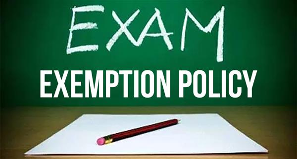 Second Semester Exemption Policy