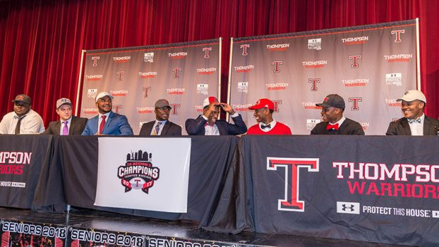 THS football players at signing day