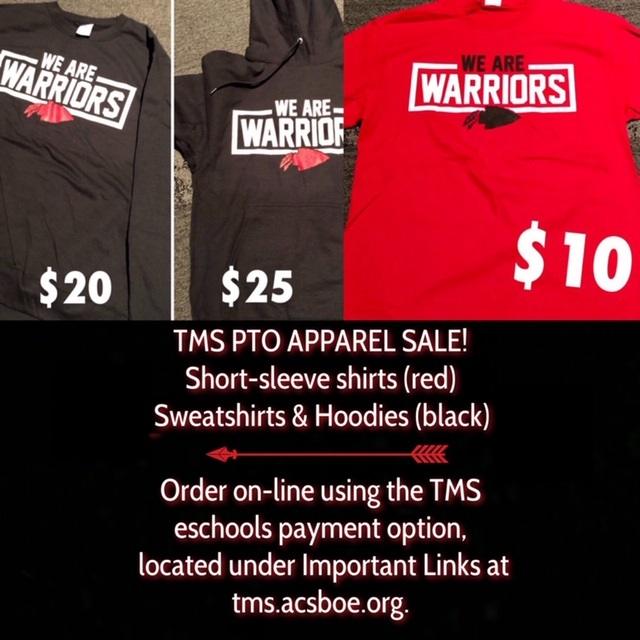 TMS PTO Apparel Sale