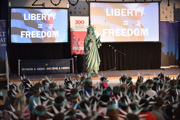 Lady Liberty Visits MVES:  Super Citizens