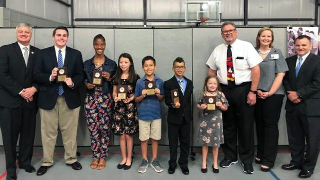 Students honored for character.